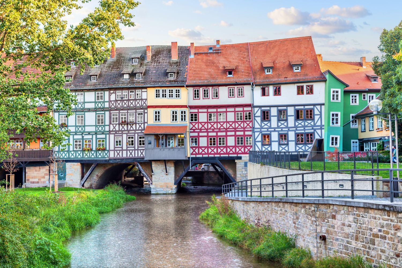 Die Erfurter Krämerbrücke. Thema Städtereisen in Deutschland